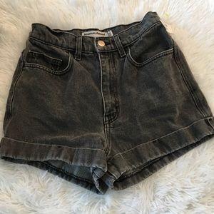 American Apparel Stone Black/Grey Women's Shorts
